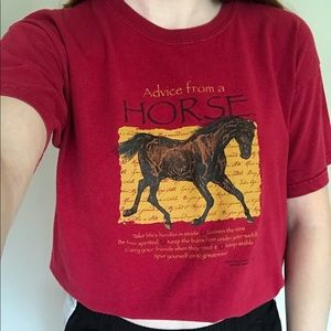 Advice From A Horse Graphic T-shirt